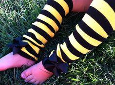 BUMBLEBEE LEG WARMERS Bumblebee Halloween Costume by SparkleToes3