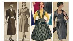 Fifties Ladies Fashion Dress Examples: The 1950's marked the beginning of one of the biggest economic booms in US history and spurred the rise of consumerism and American excess that has defined a lot of our culture in the US and worldwide for the past sixty years. Style Clothing became an important part of culture in the 1950s,