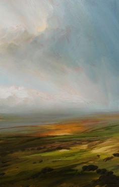 Glorious glow, indeed! Not only is the light gorgeous, but you can also get a sense of how it felt out on the land that day, as the clouds were probably moving in gentle breezes. Field Glow - James Naughton: