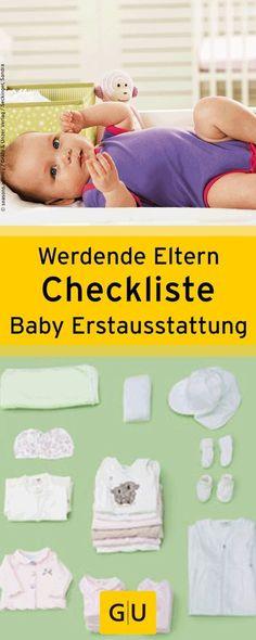 """Praktische Checkliste für werdende Eltern. Das benötigt ihr für Babys Erstaustattung. Die Liste ist aus dem Buch """"Mami to go - Die wichtigsten Checklisten für Schwangerschaft, Geburt und Babyzeit"""".⎜GU"""