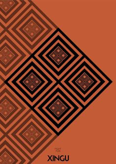 astoundingly gorgeous design. Unite for Xingu - based on drawings of the Indians xingu