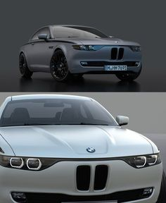 The industrial designer David Obendorfer pays tribute to the classic 1968 BMW coupe sports cars, by creating images of a new concept of the said vehicles called the BMW CS Vintage. Audi, Porsche, Supercars, Automobile, Bmw E9, Bmw Concept, Jaguar, Bmw Cars, Cars Auto