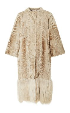 Collarless Baby Lamb Coat by HELEN YARMAK for Preorder on Moda Operandi