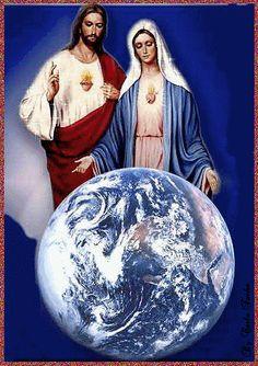 Jesus and Virgin Mary Mary Jesus Mother, Blessed Mother Mary, Mary And Jesus, Pictures Of Jesus Christ, Religious Pictures, Jesus Art, God Jesus, Image Jesus, Jesus E Maria
