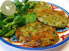 www.evasion-culinaire.com galettes-aux-petits-pois-zaatar
