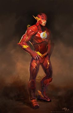 Injustice: Gods Among Us - The Flash by Marco Nelor. I kinda like this costume. A nice reimagining of the modern suit, and the wings on the feet are a good homage to the original suit.