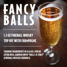 Fireball whiskey -- groomsmen drinks before the wedding? Fireball Mixed Drinks, Fireball Whiskey, Fireball Cocktails, Bourbon Drinks, Scotch Whiskey, Irish Whiskey, Martinis, Bar Drinks, Cocktail Drinks