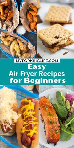 These Easy Air Fryer Recipes are perfect for beginners who just received an Air Fryer and have no clue what to really do with it! You will get comfortable with making delicious food in your Air Fryer with these minimal steps and ingredients.