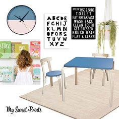 Fun Kids Playroom, shelves, craft table