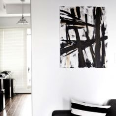Decorate your apartment with your own artwork! Here's a tutorial on a simple brush painting technique and create your own!