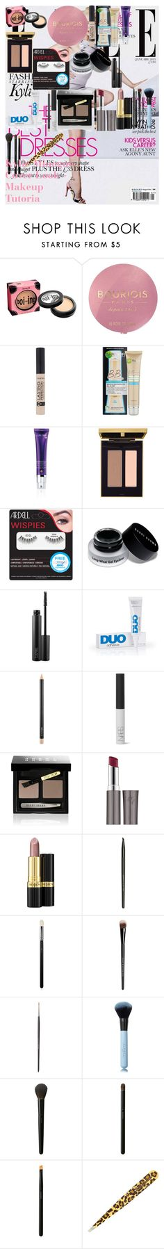"""""""Kylie Minogue Cover Look - Makeup Tutorial"""" by oroartye-1 on Polyvore featuring beauty, Kylie Minogue, Benefit, Bourjois, Garnier, Lancôme, Yves Saint Laurent, Ardell, MAC Cosmetics and DUO"""