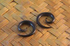 4g Gauges Spiral Horn Earrings 3/16 5mm 4ga Ear by OrganicPiercing