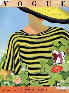 Preciosa Portada de Vogue de Mayo 1934.