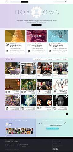 HoxTown - Public Members club - Webdesign inspiration www.niceoneilike.com
