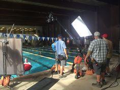 Alexa over a pool.