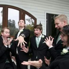 #funny #picture of the #groom w/ his #groomsmen!! #hilarious #photography #portrait #wedding #justmarried #love #life #friends #family - @Weddingish- #webstagram