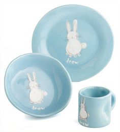 Personalized Bunny Dish Set - so sweet!