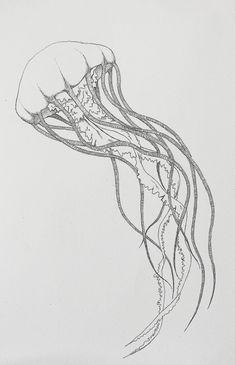 simple jellyfish tattoo - Google Search