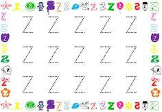 """Hola!!! Aquí os dejo unas fichas para poder trabajar las letras en mayúscula. Si os fijais, no lleva el """"puntito"""" por el que hay que empezar..."""