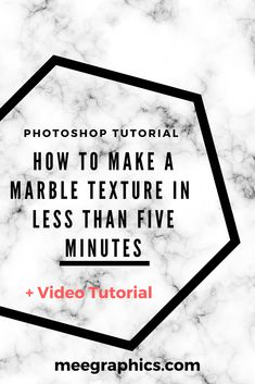 How to make a marble texture in Photoshop in less than 5 minutes