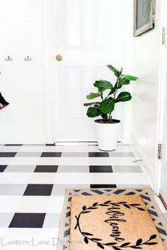 DIY Painted Floor:Ho