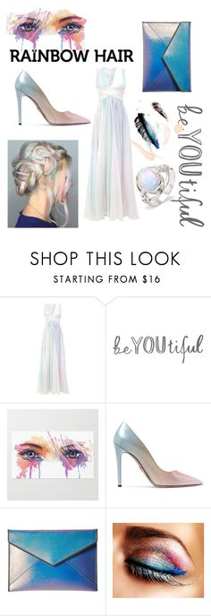 """""""Rainbow Hair with STYLE"""" by gabriela-quiroz-1 ❤ liked on Polyvore featuring beauty, Zuhair Murad, Prada and Rebecca Minkoff"""