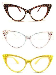 9a72197383 Crystal Cateye Reading Glasses - Divalicious Jewelry Funky Glasses