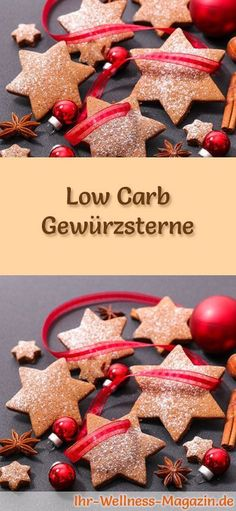 baking ~ low-carb Christmas biscuit recipe for spice stars: Low-carbohydrate, low-calorie Christmas biscuits - baked without cornmeal and sugar . Fall Cake Recipes, Healthy Gluten Free Recipes, Easy Cookie Recipes, Healthy Food, How To Make Dough, Low Carb Desserts, Recipe Spice, Summer Diet, Pastry Recipe
