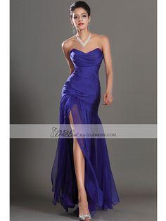 Mermaid Strapless Sweetheart Neckline Floor-length Chiffon Bridesmaid Dress/Evening Dress