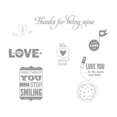 Love You to the Moon stamp set Stampin' up!