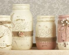 Blush Chic Mason Jar (Set of 4)