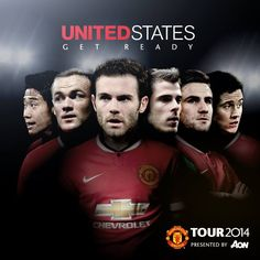 1. Wayne Rooney, Shinji Kagawa David De Gea Juan Mata cùng nhiều ngôi sao khác sẽ có mặt ở TOUR của Manchester United đi Mỹ  2. Ander Herrerā và Luke Shaw sẽ hội quân trở lại vào thứ sáu này và cùng cả đội đi Mỹ.  3. Sếp Gaal sẽ trở lại sau FIFA World Cup 2014 và có trận đầu tiên dẫn dắt MU ngày 23.7.2014 khi MU đụng LA Galaxy.  4. Đội hình đi TOUR MỸ sẽ chốt ngày 18.7.2014 và có số áo luôn Đến ngày đó, nếu ai không đi (không có lý do chính đáng) sẽ 90% bị bán.