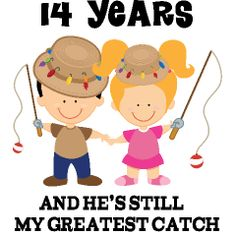 ... Anniversary Gifts for Him 14th Anniversary Fishing Couple Gift. More