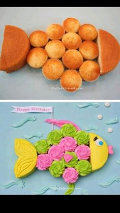 "Awesome! So simple ""Will i regret saying this? This doesn't look that hard. fish birthday cake!"""