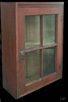Early 19th century Washington Co. Pennslyvania single door Hanging Wall Cupboard