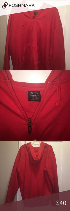 Sweat shirt hoodie Red Hoodie Sweatshirt Oakley Shirts Sweatshirts & Hoodies