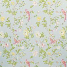 Summer Palace Wallpaper Duck Egg: sweet for a little girl room
