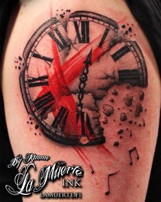 Trash polka sleeve project, clock face. Needs tons more around it, but kinda neat.