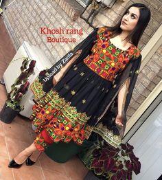 #dresses #style #Afghan Folk Fashion, Girl Fashion, Mirror Work Kurti Design, Unique Dresses, Formal Dresses, Afghani Clothes, Afghan Dresses, African Fashion Dresses, Western Outfits