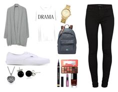 """""""Untitled #3"""" by rosietrs on Polyvore featuring MANGO, Junk Food Clothing, J Brand, Vans, FOSSIL, Topshop, Yves Saint Laurent, Too Faced Cosmetics, Chanel and Bling Jewelry"""