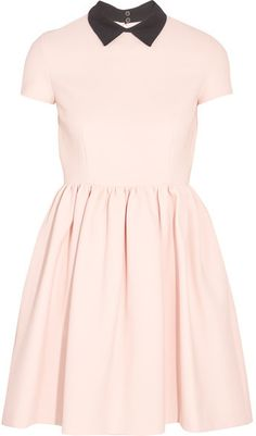 Miu Miu - Ribbed Stretch-jersey Mini Dress - Blush | #Chic Only #Glamour Always