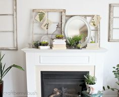 62 Inspiring And Fresh Spring Mantels | DigsDigs