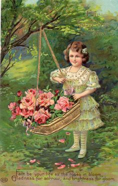 1000 Images About Baskets Bows Roses On Pinterest Rose Basket Baskets And Postcards