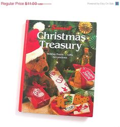 ON SALE Vintage 1987 Christmas Treasury Book by Sunset Cooking and Crafts Holiday Recipes - Gift Ideas to Make - Decorations to Make