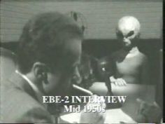 Recreation of the interview with EBE2 in the mid 1950 (i.e. the pic is fake, the event portrayed is real)