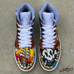 separation shoes e4b07 d259f A Pirates Life Custom Hand painted Jordan Shoes