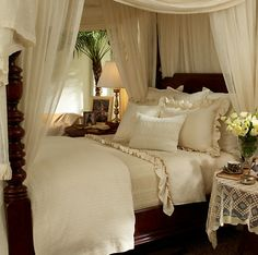 white canopy bedroom