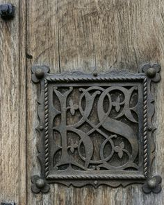 decorative ironwork of the front door was designed by Pugin and made in 1851