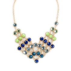 Free Spirit Juniors Round Stone Bib Necklace #VonMaur #FreeSpirit #Necklace #BibNecklace