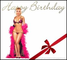 Happy Birthday Gif with a Sexy Girl Happy Birthday Biker, Happy Birthday Funny Humorous, Happy Birthday Status, Happy Birthday For Him, Happy Birthday Pictures, Funny Happy, Birthday Wishes Gif, Birthday Congratulations, Happy Birthday Greetings